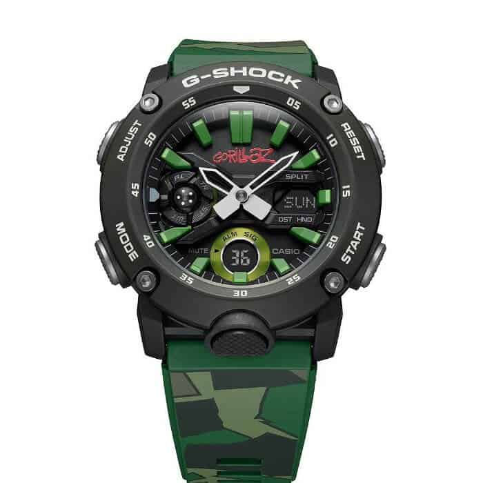 "Casio G-Shock horloges: Het nieuwe Casio G-Shock horloge GA-2000 Gorillaz ""The first debute"""