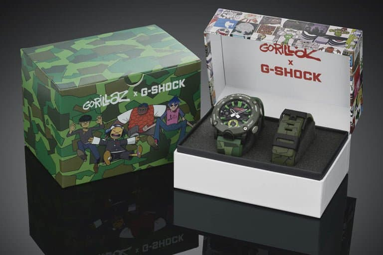 Casio G-Shock horloges: Casio G-Shock horloge GA-2000 Gorillaz x G-SHOCK in horlogebox