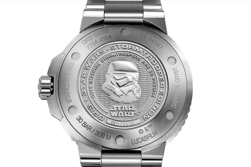 Oris horloge StarWars Limited Edition: Aquis Storm Trooper tot 300m