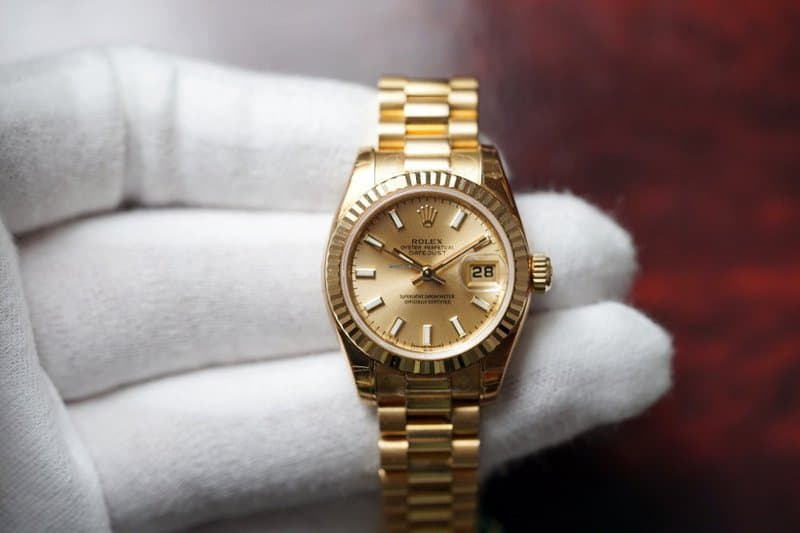 Dameshorloge 2019: Rolex Lady-Datejust 26 Gold Dial 18K Yellow Gold President automatisch dameshorloge